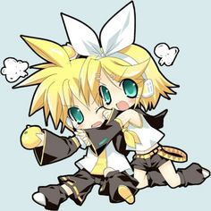 BABIES  RIN AND LEN ARE TOO FREAKING CUTE <3 <3 <3