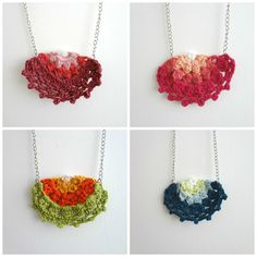 Little Treasures: Half Doily Necklaces - tutorial to make these crochet necklaces