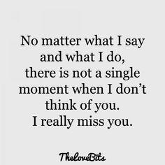 Really miss my boyfriend