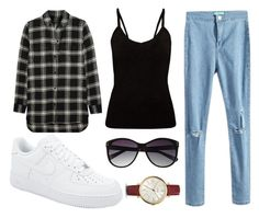 """""""School #28."""" by mzelleshort ❤ liked on Polyvore featuring Madewell, NIKE, Vince Camuto and FOSSIL"""