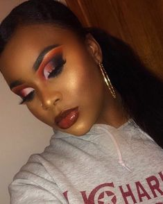 "849 Likes, 50 Comments - METORAH HILL (@cakeyobsession) on Instagram: ""Did not like the first picture. Red black and white vibes •EYEBROWS: @anastasiabeverlyhills -…"""
