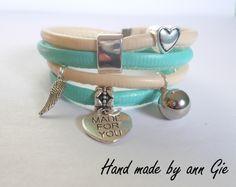 Mint-beige bracelet