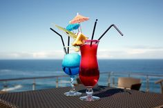 #cocktails #summer #umbrella #ocean_view
