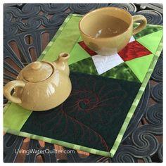 Orphan block mug rug
