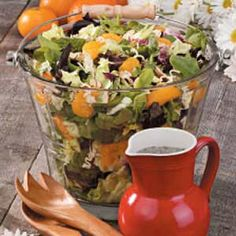 Poppy Seed Tossed Salad Recipe... with mandarin oranges & ramen noodles is a sure to please salad.