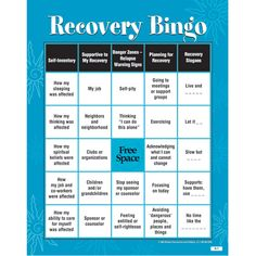 Recovery BINGO! Game for Adults