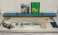 Vintage RETRO Toyota KNITTING Machine MODEL K510 Functional With ACCESSORIES