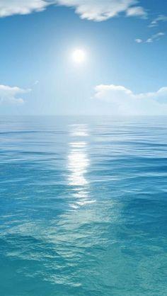 【人気239位】Blue Sea And Sun Iphone 5 Backgrounds Download