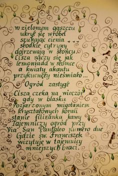 with poem of Monika Zawadzka
