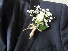 #DIY - rose blanche akito et gypsophile, #boutonnières, #mariage