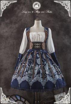 The Great Voyage Pirate Lolita Steampunk Lolita OP Dress