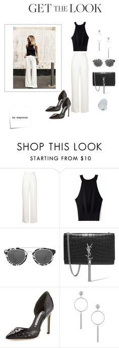 """""""Look of the Nite"""" by stephstyle76 ❤ liked on Polyvore featuring Maison Rabih Kayrouz, Taylor Morris, Yves Saint Laurent, Charles David, Topshop and Post-It"""