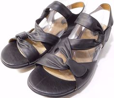 Clarks Artisan LUCENA US 9.5 W  Black Strappy LEATHER Sandals NEW DEAL!! #ClarksArtisan #Strappy