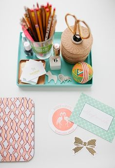 career profile on Megan Gonzalez of MaeMae Paperie // desk styling // pretty paper // photography by Wing Ta of Canary Grey Photography