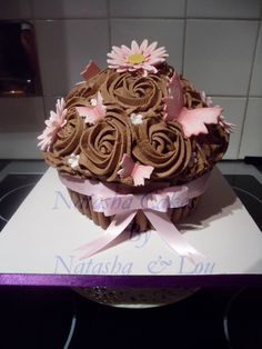 Butterfly and Daisy, giant cupcake