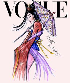 Disney Divas for Vogue by Hayden Williams: Mulan