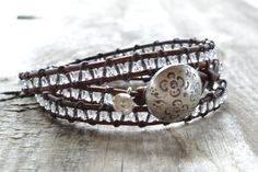 WIN this triple wrap beaded leather bracelet at The Funky Monkey! Giveaway ends 11/19/12.