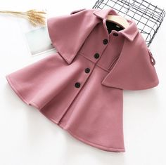 The ultimate luxe coat this season! Runs True to Size and made of wool . Cute Little Girls Outfits, Toddler Outfits, Kids Outfits, Baby Kids Clothes, Kids Clothing, Kids Fashion Photography, Cape Coat, Kids Coats, Historical Clothing