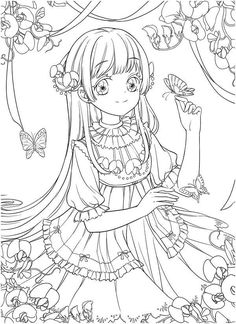 Instant Download tatacat Coloring Book of Flower Fairy Dress. Anime and Drawing Art Coloring Book!  High quality images fit on A4 paper Over 200 printable coloring books available   #chinese #gugeli #coloringbook #coloringpage #coloring #anime #mystica #aeppol #momogirl #koreacoloring #download #ebook #coloringpage #classic #tatacat Coloring Books, Coloring Pages, Fairy Dress, Printable Coloring, High Quality Images, Fairy Tales, Art Drawings, Printables, Flowers