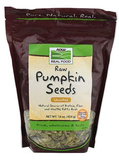 NOW Foods Real Food Raw Pumpkin Seeds Unsalted