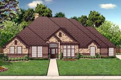 House Plan 69975   Traditional Plan with 2538 Sq. Ft., 4 Bedrooms, 3 Bathrooms, 3 Car Garage at family home plans