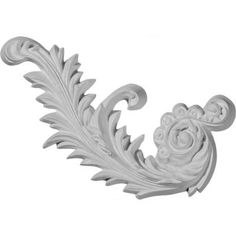 Ekena Millwork 7-7/8 in. x 4-1/8 in. x 3/4 in. Medway Scroll Left Onlay-ONL07X04ME-L - The Home Depot