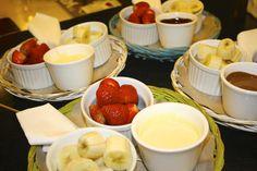 Chocolate fondue.