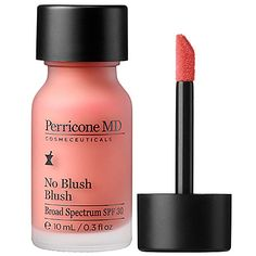 No Blush Blush - Perricone MD   Sephora   This product provides a very flattering rosy pink color to the cheeks and is definitely worth the price.