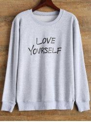 Love Yourself Graphic Sweatshirt