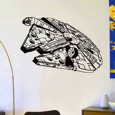 Wall Decals Vinyl Sticker Decal Star Wars Millennium Falcon Wall Decor Home Interior Design Art Mural Boys Room Kids Bedroom Dorm Z762 by WisdomDecals on Etsy https://www.etsy.com/listing/225702899/wall-decals-vinyl-sticker-decal-star