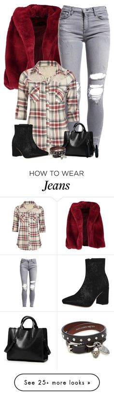 """Fur Coat & Ankle Boots"" by majezy on Polyvore featuring Boohoo, AMIRI, Full Tilt, Alexander McQueen and Bling Jewelry"