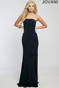 Strapless Long Jersey Dress 22769 - Prom Dresses