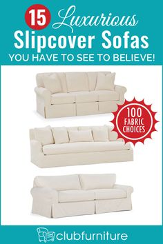 Perfect for anyone with kids or pets, shop the best selection of slipcovered sofas & couches at Club Furniture, offering durability, comfort and style. Club Furniture, Home Furniture, Couch Covers, River House, Quality Furniture, Home Living Room, Slipcovers, Home Remodeling, Decoration