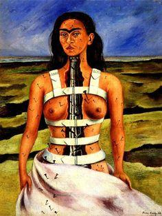 Frida Kahlo, The Broken Column, 1944 on ArtStack #frida-kahlo #art