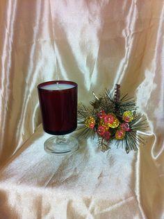 ARCOROC Ruby Red Medium Cavalier Glass, $16.95 NZD Vintage Candles, Red Media, Soy Wax Candles, Ruby Red, Cavalier, Pottery, Table Decorations, Medium, Glass