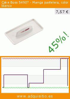 Cake Boss 54907 - Manga pastelera, color blanco (Cocina). Baja 45%! Precio actual 7,57 €, el precio anterior fue de 13,87 €. https://www.adquisitio.es/cake-boss/54907-manga-pastelera