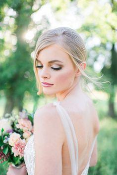 Bridal beauty: http://www.stylemepretty.com/2015/01/20/rose-gold-inspiration-shoot/ | Photography: Elisheva Golani - http://elishevagolani.com/