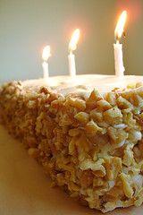 CARROT CAKE FOR BIRTHDAY CAKE...