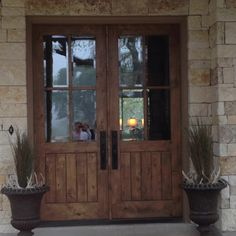 Front door decor using antlers! Now I know what to do with all of our antler sheds!   Love the front door too!