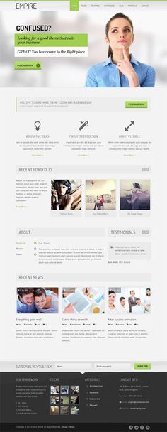 WordPress Themes: Flat, Bold and Responsive Design Themes