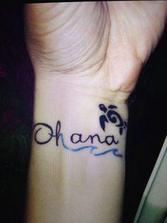 The absolute perfect Ohana tattoo