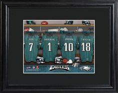 Philadelphia Eagles NFL Locker Room Framed Personalized Print - Was And Now - online shopping with discounted prices Eagles Jersey, Eagles Nfl, Philadelphia Eagles Players, Football Rooms, Nfl Football, Christmas Ships, Christmas Gifts, Holiday, Team Gifts