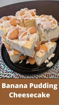 Just Desserts, Delicious Desserts, Yummy Food, Desserts Menu, Fun Baking Recipes, Sweet Recipes, Comida Diy, Banana Pudding Cheesecake, Cheesecake Desserts