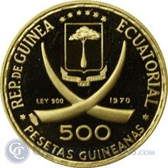 Great Deals On 1970 Equatorial Guinea Lenin Proof Gold 500 Pesetas oz AGW At Gainesville Coins. Securely Buy Gold And Silver Online. Gold And Silver Coins, Coin Collecting, African, Money, Coins, Stop It, Silver