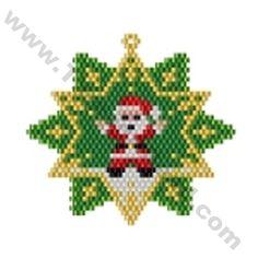 Santa Star Bead Pattern By ThreadABead