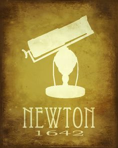Science Art Isaac Newton 11x14, Astronomy Art Print Poster, Steampunk Art, Rock Star Scientist, Geek Art, Office Decor. $21.00, via Etsy.