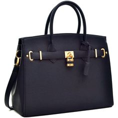Women's Satchel Handbag ($45) ❤ liked on Polyvore featuring bags, handbags, purses, black, purse satchel, handbag satchel, structured satchel handbag, hand bags and structured purse