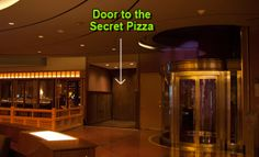 Secret Pizza - on the second floor of the Cosmopolitan down an unmarked hallway with records on the wall - like NY pizza by the slice - $5