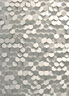 Honeycomb Office Wall #loved #office #design #inspiration #honeycomb #wall