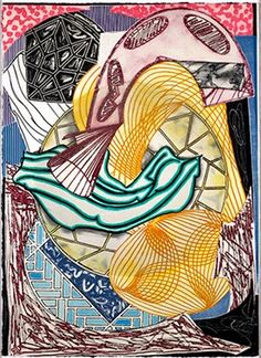 Franck Stella The Cabin, Ahab and Starbuck (from Moby Dick engravings) Stella Art, Frank Stella, Post Painterly Abstraction, Modern Art, Contemporary Art, Traditional Paintings, American Artists, Printmaking, Fine Art